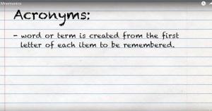 mnemonics-acronyms