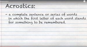 mnemonics-acrostics